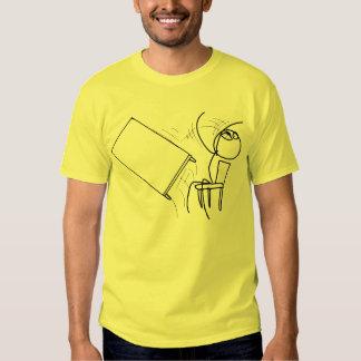 Table Flip Flipping Rage Face Meme Tee Shirts
