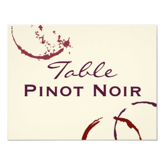 Table Name Cards | Types of Wine Theme 11 Cm X 14 Cm Invitation Card