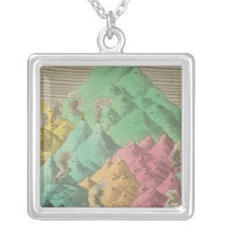 Table of the Comparative Heights Square Pendant Necklace