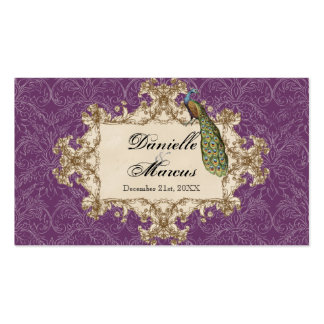 Table Seating - Purple Vintage Peacock & Etchings Pack Of Standard Business Cards