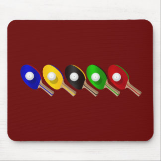 Table Tennis Bat and Ping Pong Ball Sports Mouse Pad