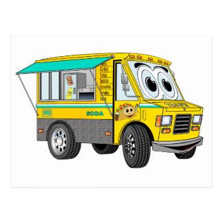 Taco Food Truck Cartoon Postcard