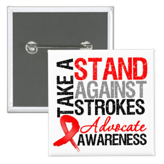 Take a Stand Against Strokes 15 Cm Square Badge
