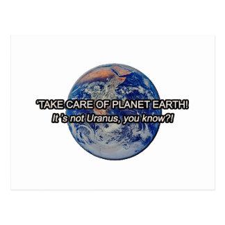 Take Care of Planet Earth! It's not Uranus... Postcard