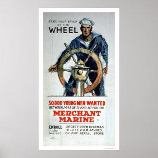Take the Wheel - Merchant Marine (US02058) Poster