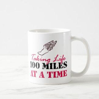 Taking life 100 miles at a time basic white mug