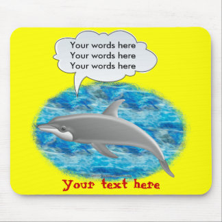 Talking Dolphin Mouse Pad