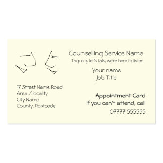 Talking Heads, Appointment Reminders Pack Of Standard Business Cards