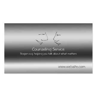 Talking Heads, Counselor, metallic-effect Pack Of Standard Business Cards