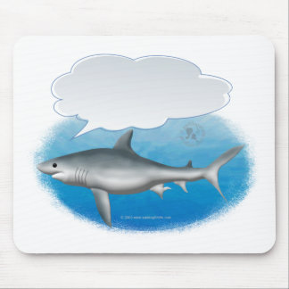 Talking Shark Mouse Pad