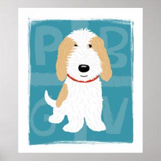 Tan & White PBGV Poster