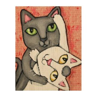 Tango Dance Cats Whimsical Wood Wall Art Wood Prints