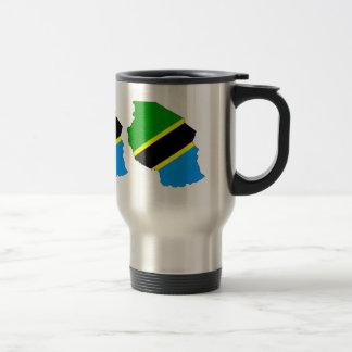 Tanzania Flag Map full size Stainless Steel Travel Mug
