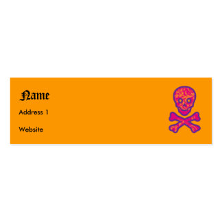 Tapestry Head Purple Pack Of Skinny Business Cards