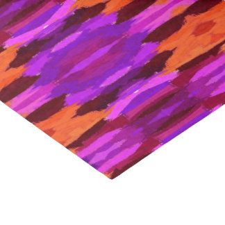 "Tapestry of purple and orange tissue paper 10"" x 15"" tissue paper"