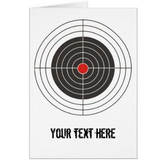 Target shooting for gun, rifle or firearm shooter greeting card
