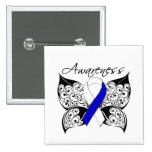 Tattoo Butterfly Awareness - ALS Disease 15 Cm Square Badge