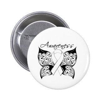 Tattoo Butterfly Awareness - Bone Cancer 6 Cm Round Badge