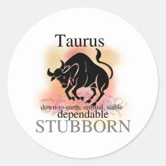 Taurus About You Round Sticker