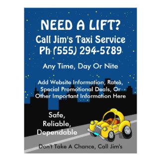 Taxi Service 21.5 Cm X 28 Cm Flyer