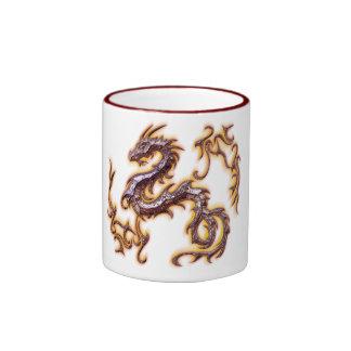 taza dragon rojo ringer mug