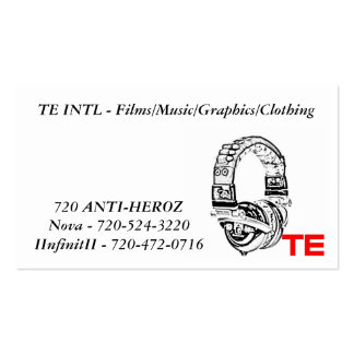 te, TE INTL - Films/Music/Graphics/Clothing, No... Pack Of Standard Business Cards