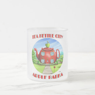 TEA KETTLE CITY FROSTED GLASS MUG