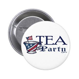 Tea Party Flag Political 6 Cm Round Badge