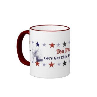 Tea Party Political Gear Ringer Mug