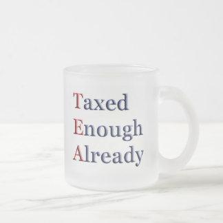 TEA - Taxed Enough Already Frosted Glass Mug