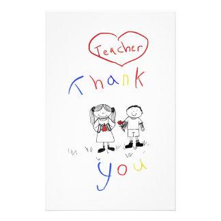 Teacher appreciation personalized stationery