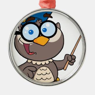 Teacher bird Silver-Colored round decoration