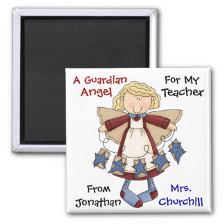 TEACHER Guardian Angel by SRF Square Magnet