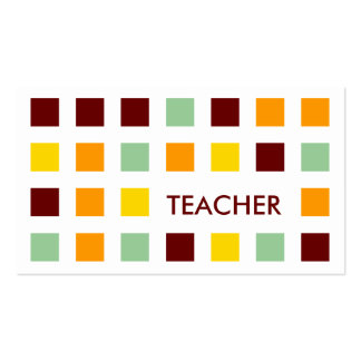 TEACHER (mod squares) Pack Of Standard Business Cards