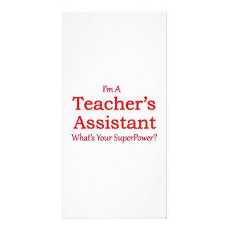 Teacher's Assistant Photo Card Template