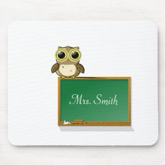 Teachers' Chalkboard Personalize Mouse Pad