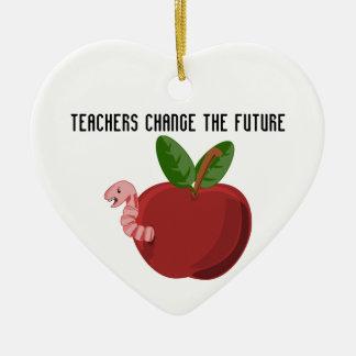 Teachers Change The Future Ceramic Heart Decoration
