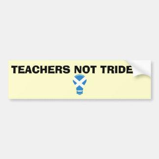 Teachers Not Trident Scottish Independence Sticker Bumper Sticker
