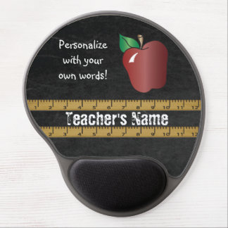 Teacher's Personalize Vintage Chalkboard Gel Mouse Pad