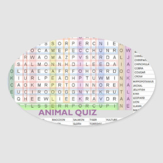 Teaching Aids : Learn Alphabets n Animal Names Oval Sticker