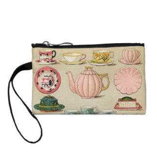 Teacup Teapot and China Vintage Art Coin Wallet