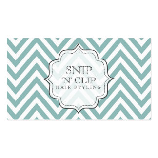 Teal Chevron Filigree Zig Zag Hair Stylist Cards Pack Of Standard Business Cards
