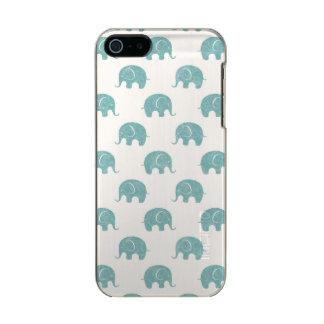 Teal Cute Elephant Pattern Incipio Feather® Shine iPhone 5 Case