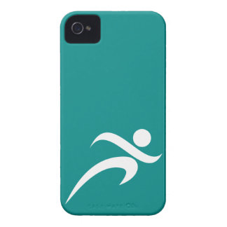 Teal Green Running Case-Mate iPhone 4 Cases