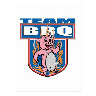 Team BBQ Pork Postcard