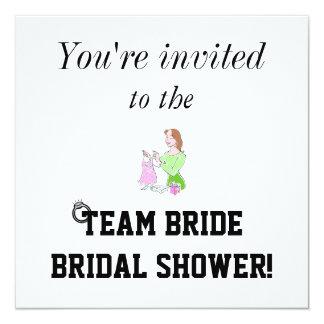 Team Bride Bridal Shower Invitation! 13 Cm X 13 Cm Square Invitation Card
