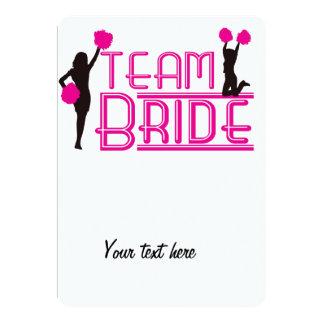 Team Bride - cheerleaders 13 Cm X 18 Cm Invitation Card