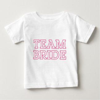 Team Bride Pink Outline T Shirt