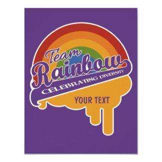 Team Rainbow custom invitations