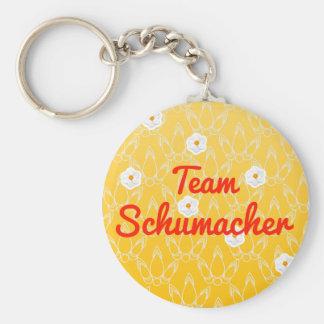 Team Schumacher Basic Round Button Key Ring